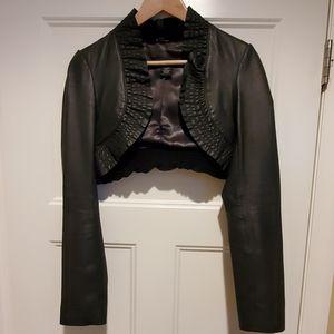 Vintage Cropped Leather Jacket